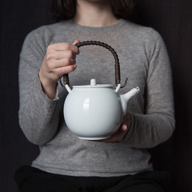 波佐見焼 - Large Tea Pot -  ash gray