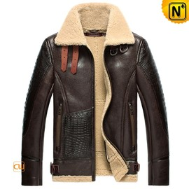 CWMALLS - CWMALLS® Sheepskin Leather Bomber Jacket CW856118