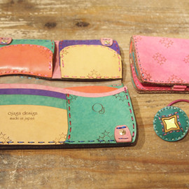 Ojaga design - Short Wallet 15,750円 / Long Wallet 17,800円 / Hair Elastic Band 1,995円