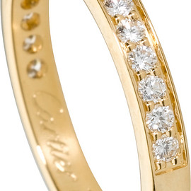Cartier - Wedding band Yellow gold, diamonds