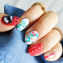unknown - splattering and stamping nails