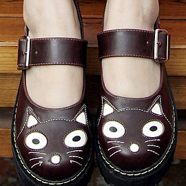 SHAMROCKARTS - Cutest Ever Womens Creepers Shoes Cats Brown Sizes EU37-37.5-38