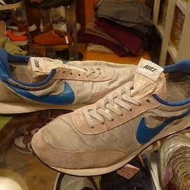 """NIKE - 「<used>70-80's NIKE TAILWIND silver/blue""""made in USA""""size:US10?(28cm?) 29800yen」完売"""