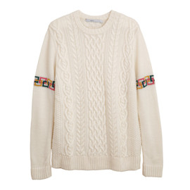 .efiLevol - Crew Neck Aran Sweater
