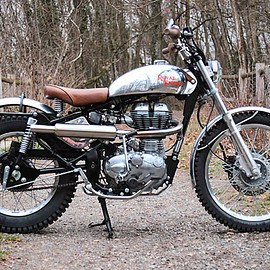 BAAK Motocyclette - 1960' Royal Enfield Trials Racer