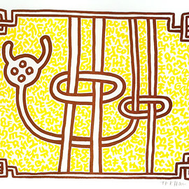 keith haring - Chocolate Buddha 3