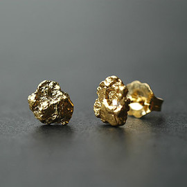 Gold Nugget Earrings - Large