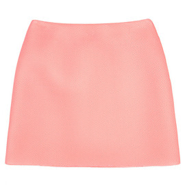 SIMONE ROCHA - Knitted Wafer Mesh Back Pleat Skirt In Pink
