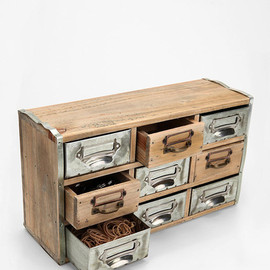 Reclaimed Card Catalog Organizer Cabinet eclectic storage units and cabinets