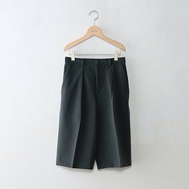 steven alan - DOUBLE CLOTH WIDE 7LENGS PANTS / DARK GREEN