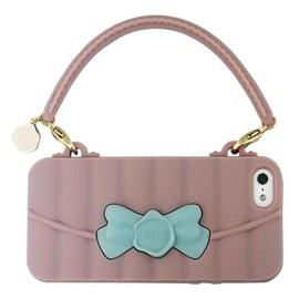 "iPhone5用シリコンケース CLICHE'""RIBBON HANDBAG with SILICONE HANDLE"" OR33086(RV)"