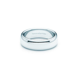 Tiffany & Co. - LUCIDA -Wedding band ring in platinum. 6mm wide-