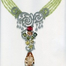 Cartier - Exquisite jeweled multi-strand necklace.