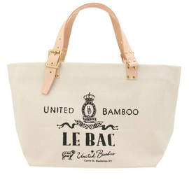 united bamboo - LEATHER HANDLE TOTEBAG LARGE