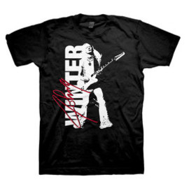 JOHNNY WINTER / SIGNATURE PHOTO / T-Shirts Tシャツ ジョニー・ウィンター