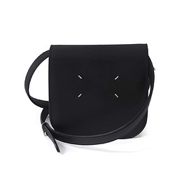 Maison Margiela - Black Leather Saddle Bag