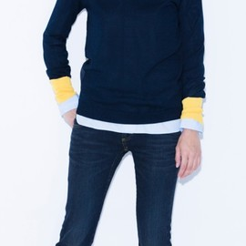 YOKO CHAN - Bi-color sleeve Knit