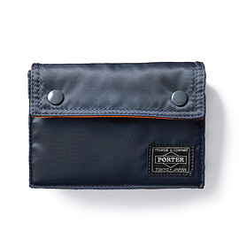"HEAD PORTER - ""TANKER-ORIGINAL"" PLAYING CARD CASE NAVY"