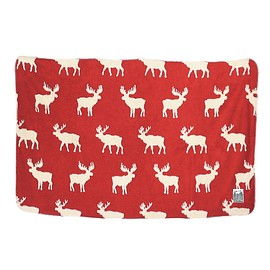 SPICE - REINDEER BLANKET   RED