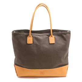 HERITAGE LEATHER CO. - 7860 TOTE BAG CANVAS/MOC LEATHER