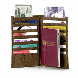 Corkor - Passport Holder Wallet Handmade Cover - Made from Eco-Friendly Natural Cork - Travel Wallet