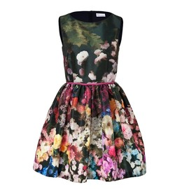 REDValentino - Floral Print Puff Skirt Dress