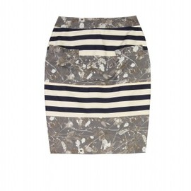 Opening Ceremony - FLOWER AND STRIPE SKIRT