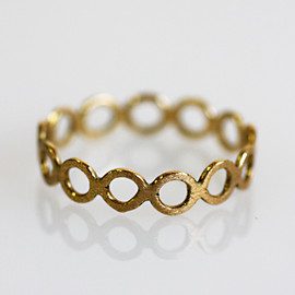 silver × gold DIA3P ring