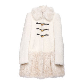 miu miu - SHEARLING PATCHWORK COAT