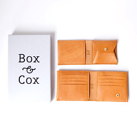 Box & Cox - Box & Cox / Birds - leather wallet : camel
