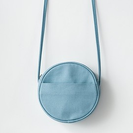 BAGGU - Small Canvas Circle Purse - Washed Blue