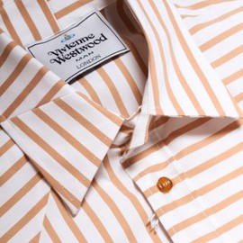 Vivienne Westwood MAN - Stripe Shirt in Brown & White