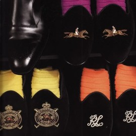 Ralph Lauren - Ralph Lauren Purple Label Velvet Slippers