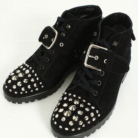 Unsqueaky - Studs Lace up Boots
