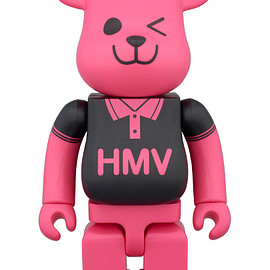 MEDICOM TOY - BE@RBRICK HMV BLACK POLO 400% 25th Anniversary Ver.
