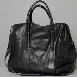 Maison Martin Margiela - Large Black Leather Duffle Bag