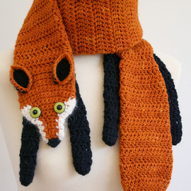 PDF Crochet Pattern for Fox Scarf