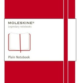 MOLESKINE - Classic Red Notebook, Plain Pocket