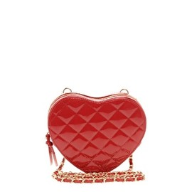 ASOS Collection - ASOS Quilted Heart Across Body Bag/red