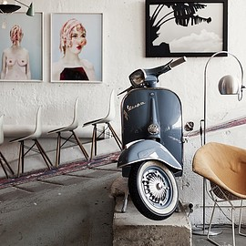 Vintage Vespa - eames chair