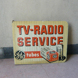 "GENERAL ELECTRIC - GE TUBES ""TV&RADIO Service"" sign 2"