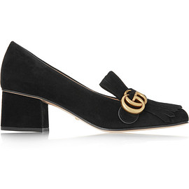 GUCCI - FW2015 Fringed suede loafers