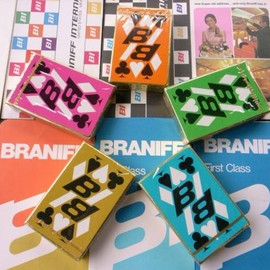 "BRANIFF INERNATIONAL - ""Playing Cards"" 5colors Designed by Alexander-Girard"