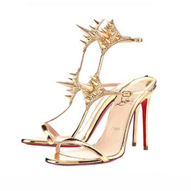 "Christian Louboutin - ""Lady Max"" 12cm high heels (Gold for Arrow)"