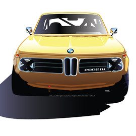 BMW - 1974 | BMW 2002 TII | Art by François Leboine (Renault Design Team)