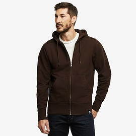 American Giant - Classic Full Zip, Dark Chocolate