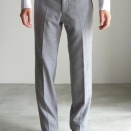 RAINMAKER - PIPING FLANNEL TROUSERS / GRAY