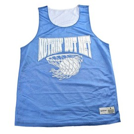 Vintage Mens Goods - Nothin' But Net Baby Blue/White #1 Basketball Jersey Mens Sportswear Size Small