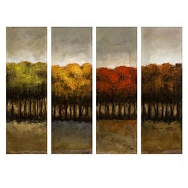 IMAX - IMAX The Four Seasons Four Canvas Oil Painting