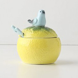 Anthropologie - grapefruit sugar bowl